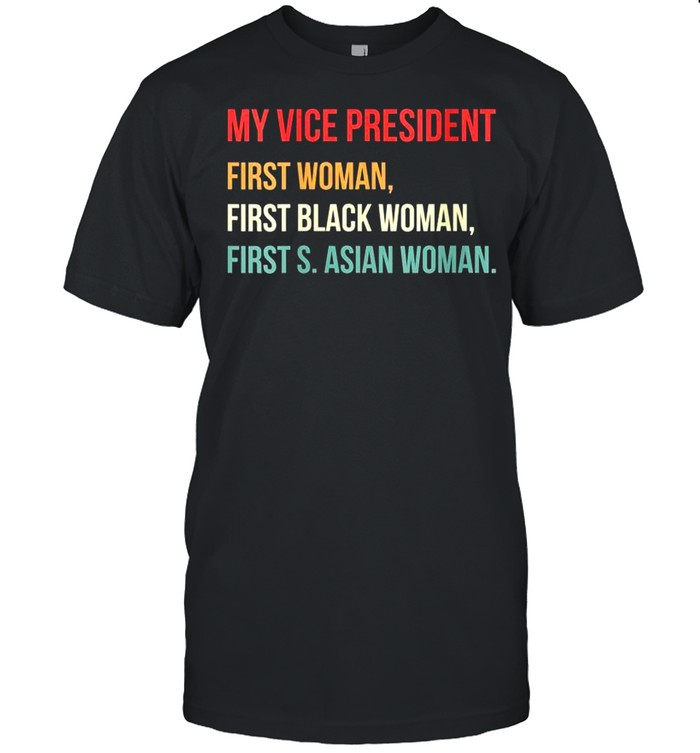 My Vice President Is A Black Vintage Style Election shirt Classic Men's T-shirt