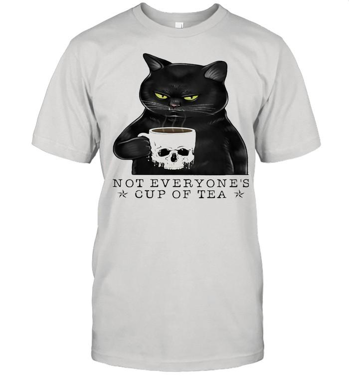 Not Everyone's Cup Of Tea Cat Skull Cup shirt Classic Men's T-shirt