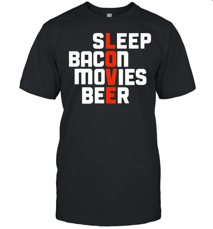 Sleep bacon movies beer shirt Classic Men's T-shirt