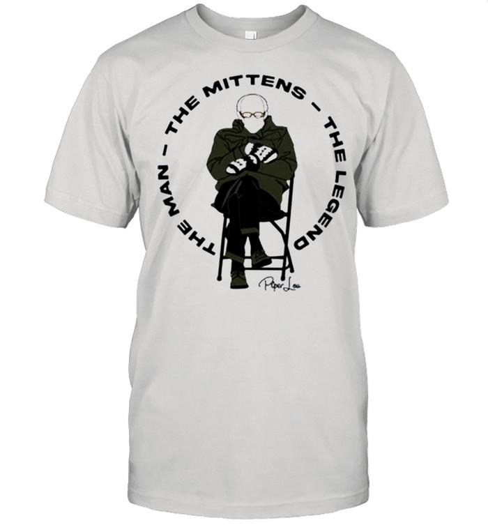 Bernie Sanders the man the mittens the legend signature shirt Classic Men's T-shirt