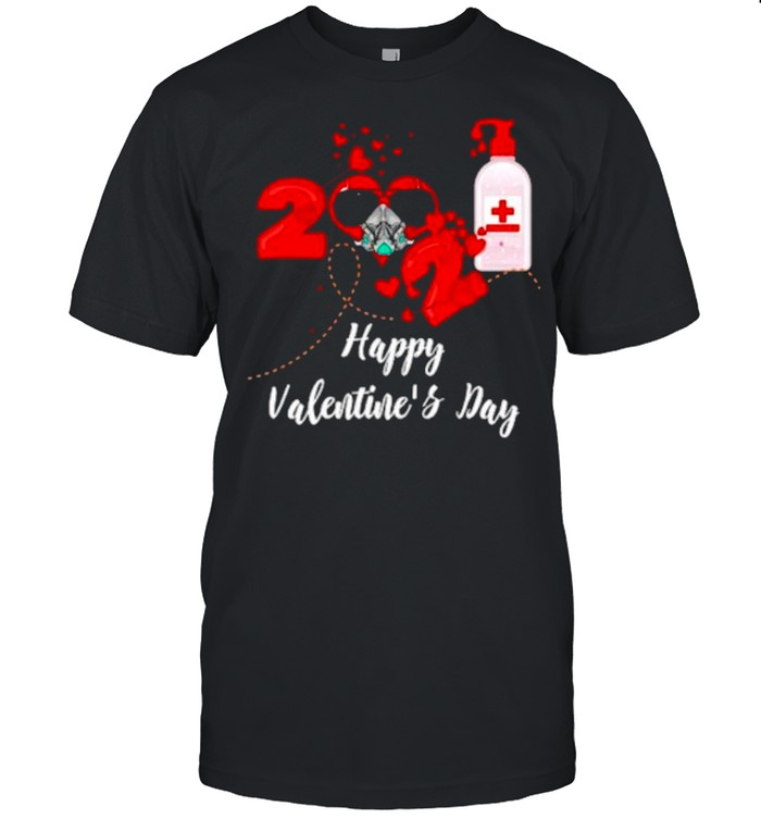 2021 Covid19 Happy Valentines Day shirt Classic Men's T-shirt