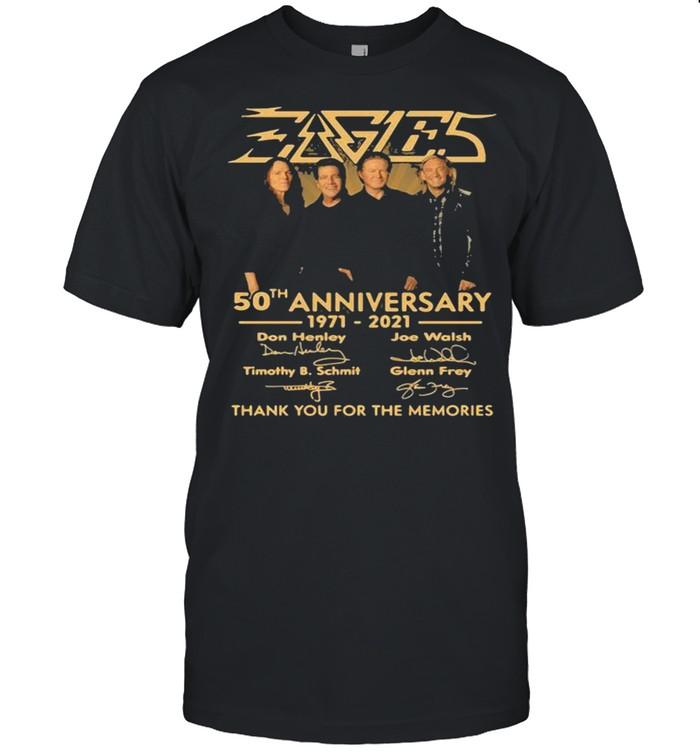 50th Anniversary 1971 2021 Don Henley Joe Walsh Timothy B. Schmit Scott Crago Signature shirt Classic Men's T-shirt