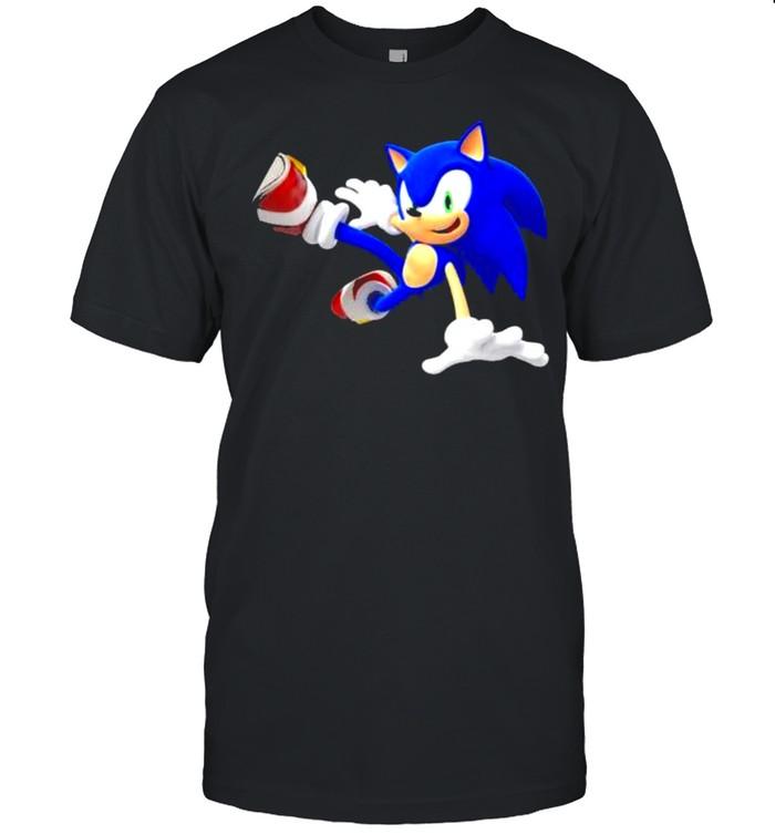sonic the hedgehog blue graphics shirt Classic Men's T-shirt