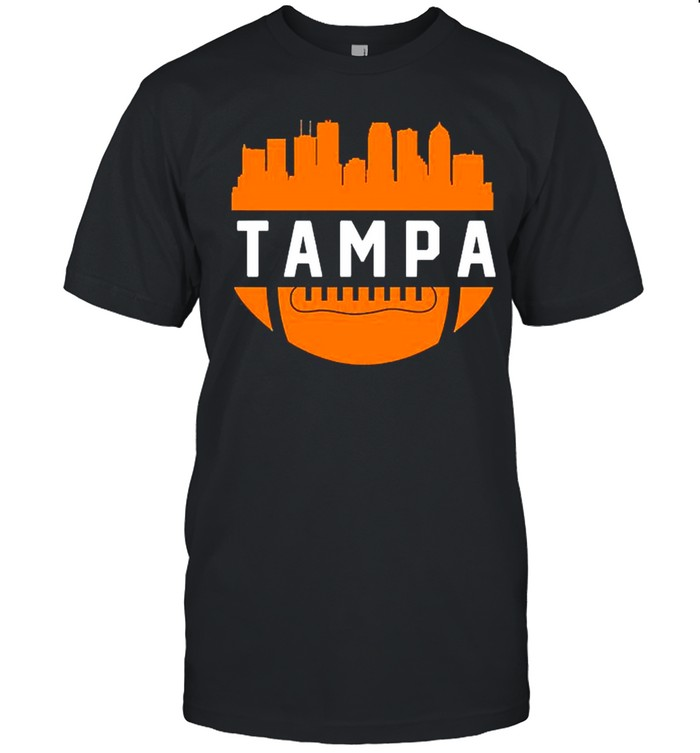 Vintage Tampa Bay Football City Skyline shirt Classic Men's T-shirt