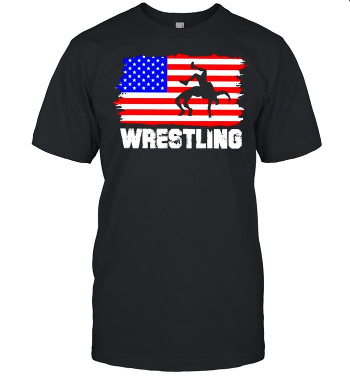 Wrestling American flag 2021 shirt Classic Men's T-shirt
