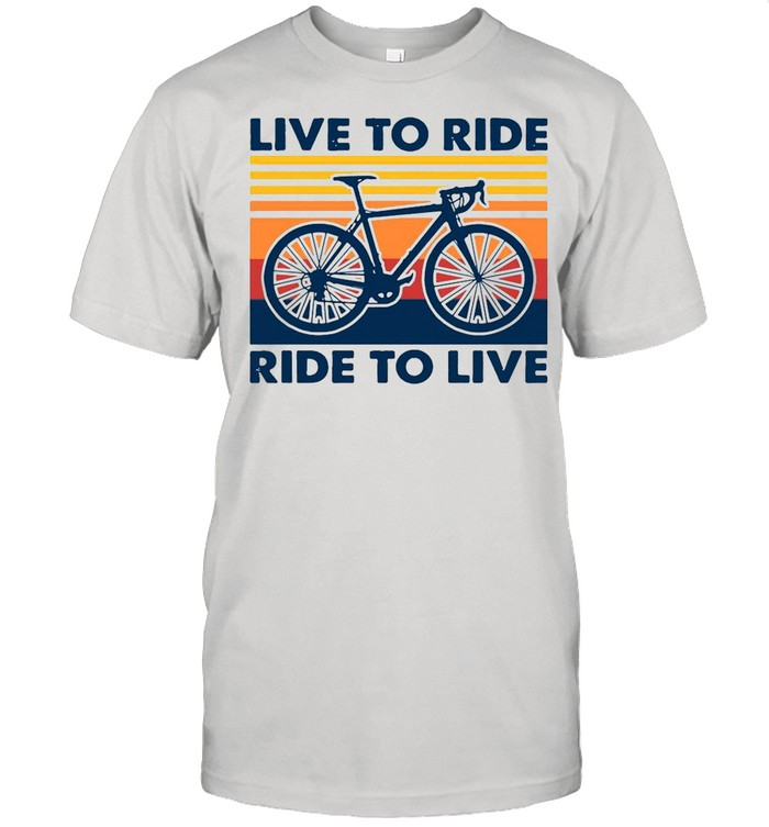 Bicycle Live To Ride Ride To Live Vintage Retro shirt Classic Men's T-shirt