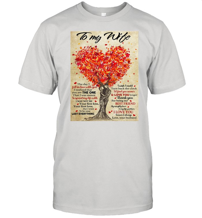 To My Husband Gift For Husband Gallery Wrapped Canvas Prints Canvas shirt Classic Men's T-shirt