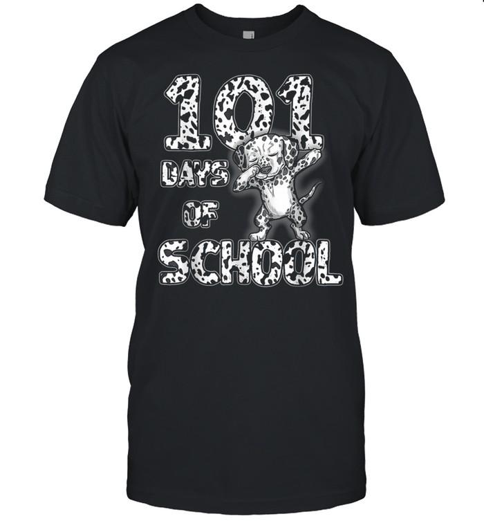 101 Days School Dabbing Dalmatian Dog 100 days Teacher shirt Classic Men's T-shirt