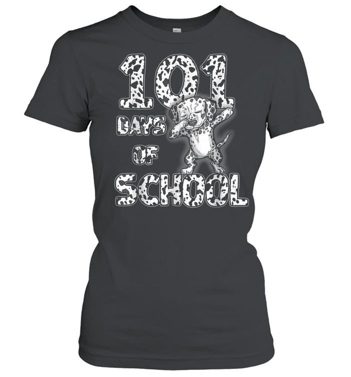 101 Days School Dabbing Dalmatian Dog 100 days Teacher shirt Classic Women's T-shirt