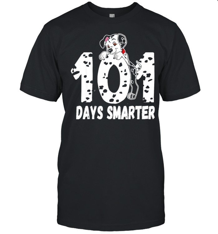 101 Days Smarter Dalmation Dog shirt Classic Men's T-shirt