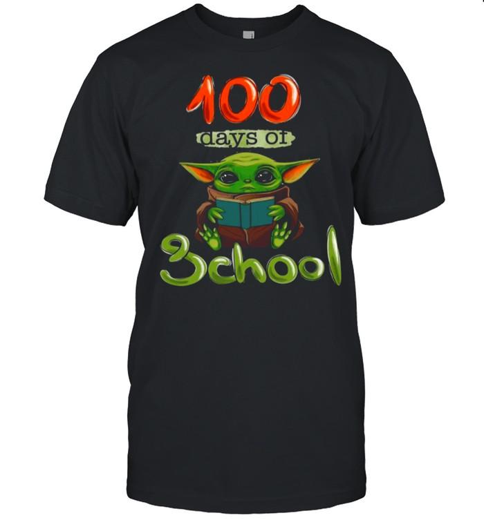 Baby Yoda 100 Days Of School shirt Classic Men's T-shirt