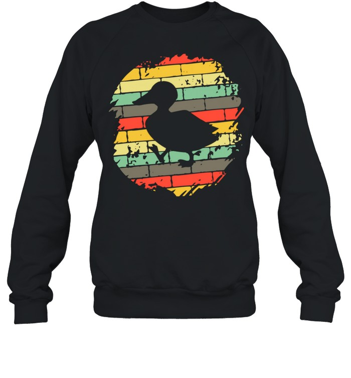 Colorful Background Silhouette Duck Animal shirt Unisex Sweatshirt