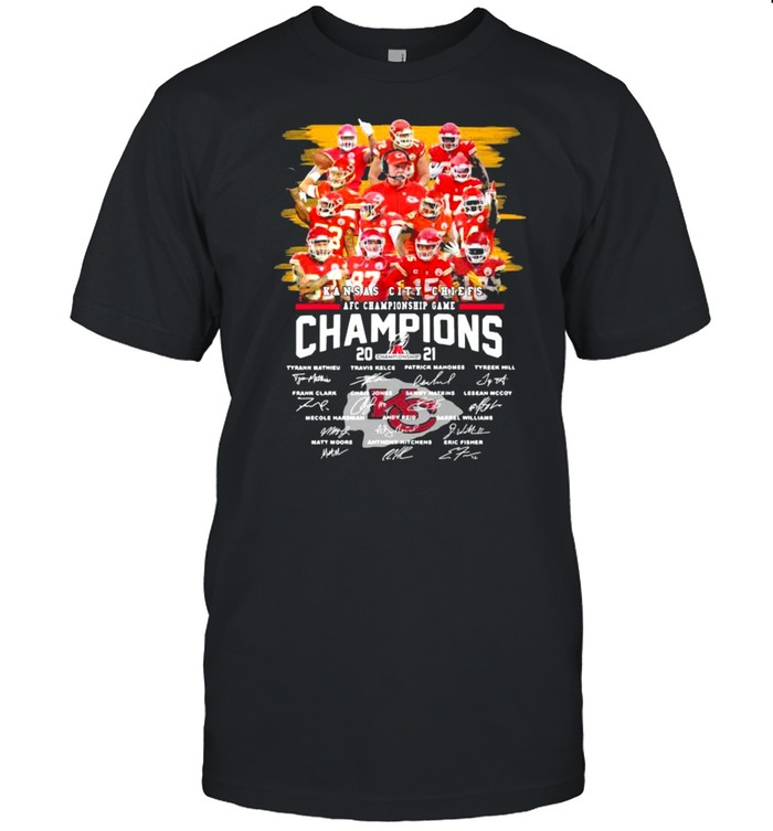 Kansas City Chiefs Afc Championship Game Champions 2021 Signature shirt Classic Men's T-shirt
