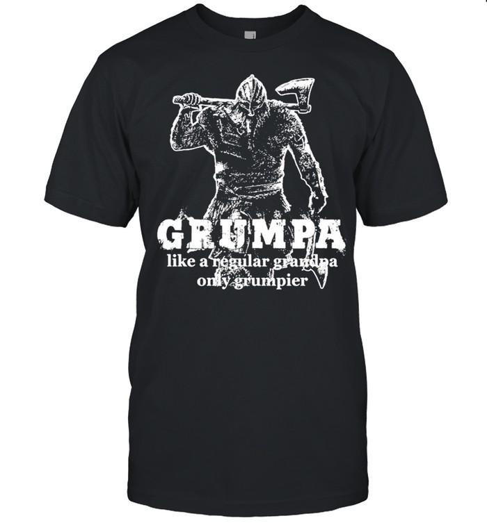 Viking Grumpa like a regular grandpa only grumpier shirt Classic Men's T-shirt