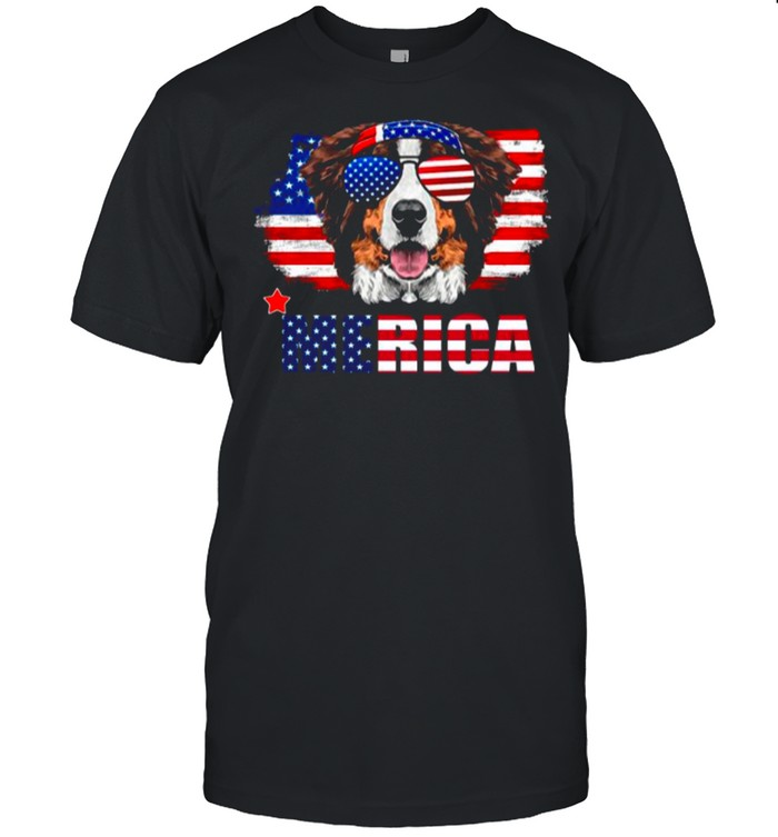 American Flag With Dog Merica shirt Classic Men's T-shirt