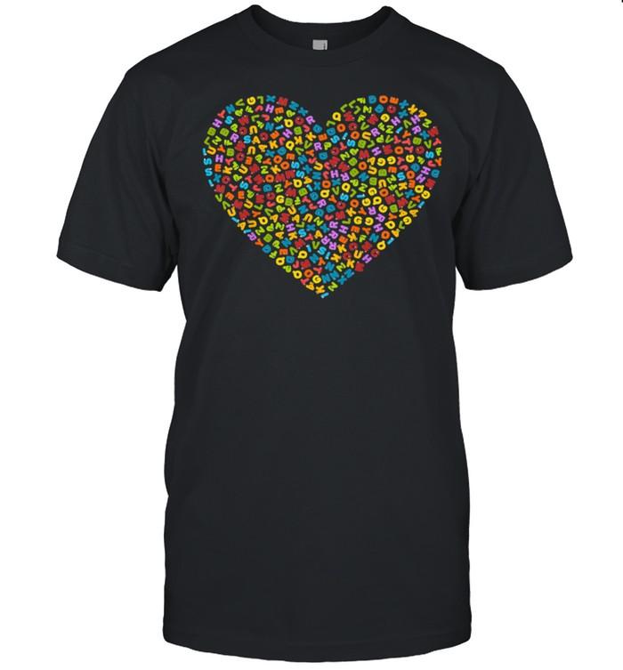 Animals Alphabet Heart shirt Classic Men's T-shirt