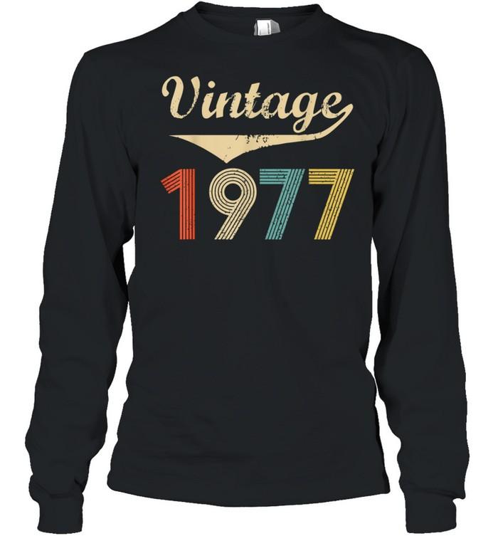 Vintage 1977 Distressed shirt Long Sleeved T-shirt