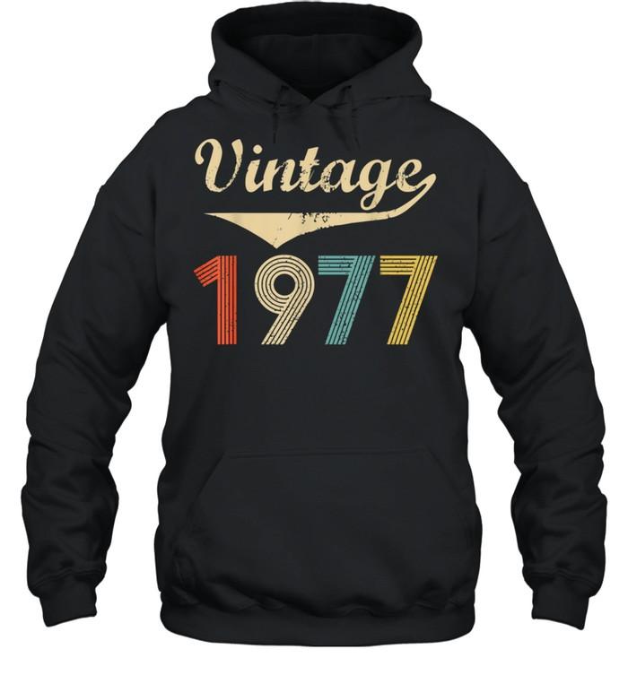 Vintage 1977 Distressed shirt Unisex Hoodie