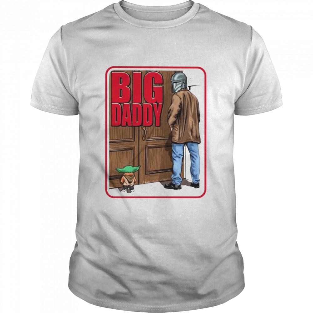 Big Daddy Baby Yoda Mandalorian Pee shirt Classic Men's T-shirt