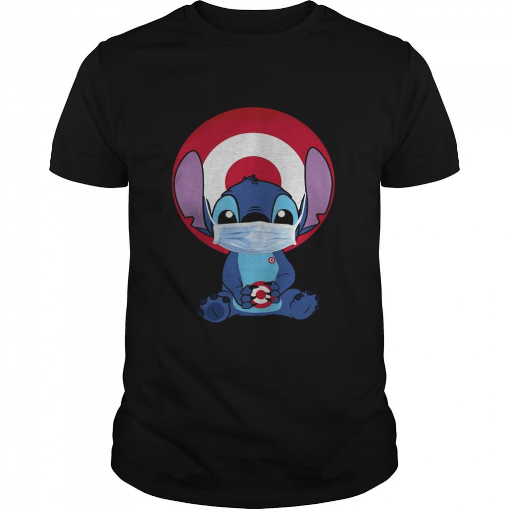 Baby Stitch Face Mask Hug Target Logo shirt Classic Men's T-shirt