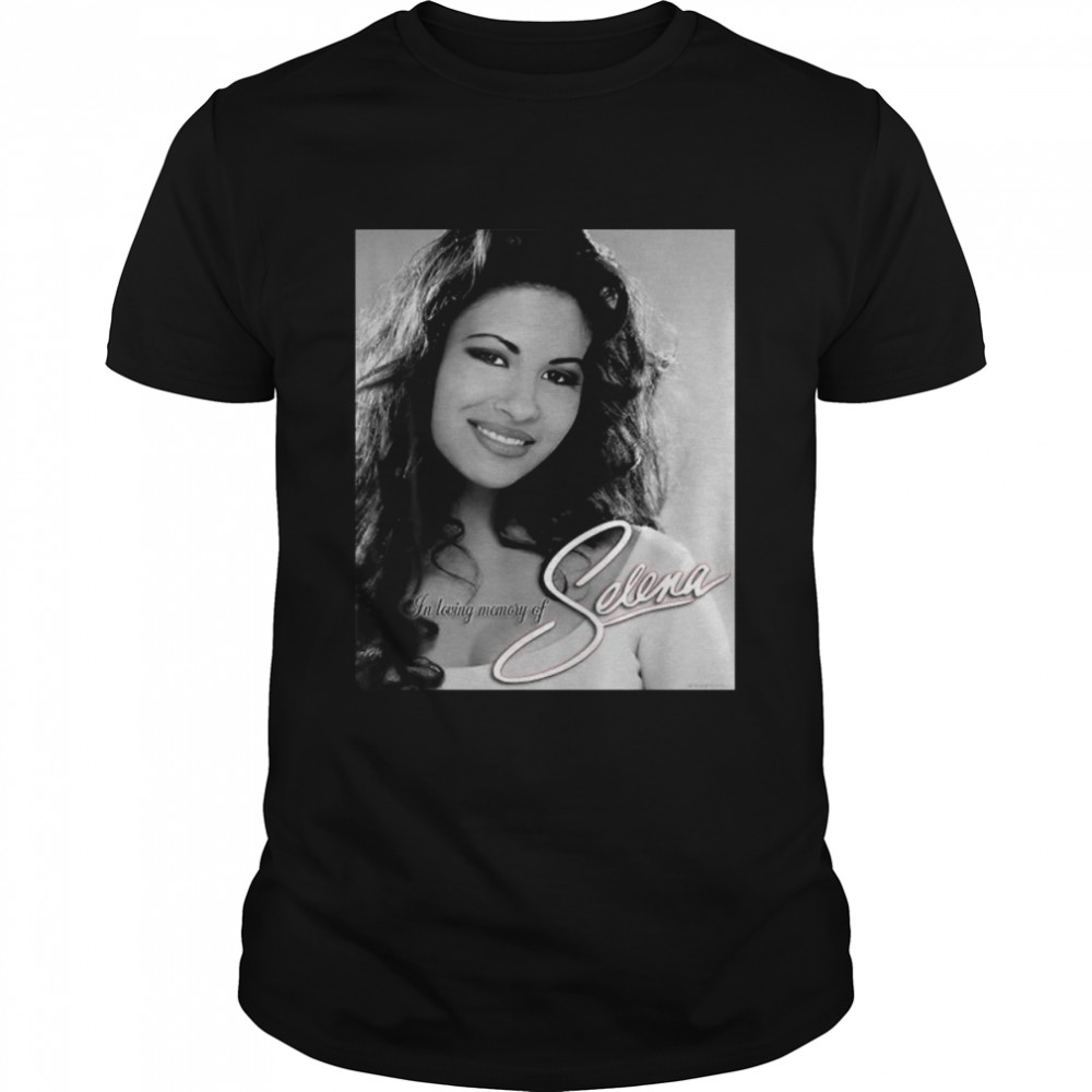 Black White Selenas Quintanilla Love Music Signature  Classic Men's T-shirt