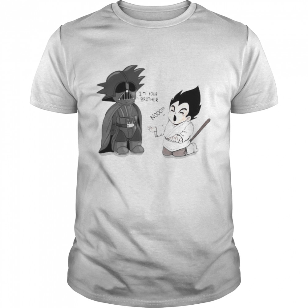 Goku From Dragon Ball Battles Against Darth Vader From Star Wars  Classic Men's T-shirt