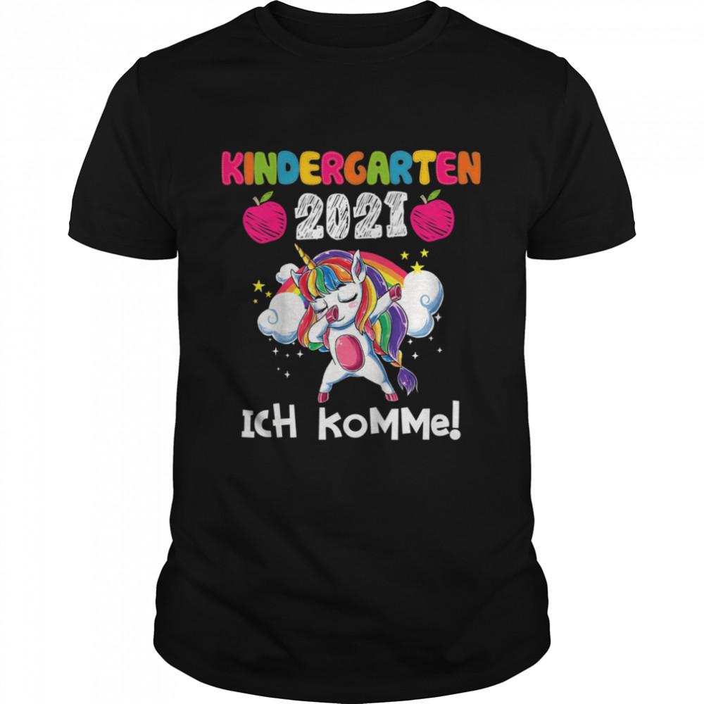Kinder Kindergarten 2021 Ich Komme Einhorn shirt Classic Men's T-shirt