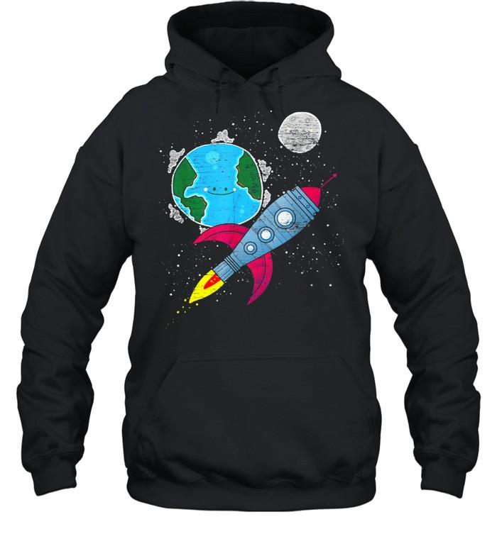 moon space earth rocket cosmonaut junior astronaut shirt unisex hoodie
