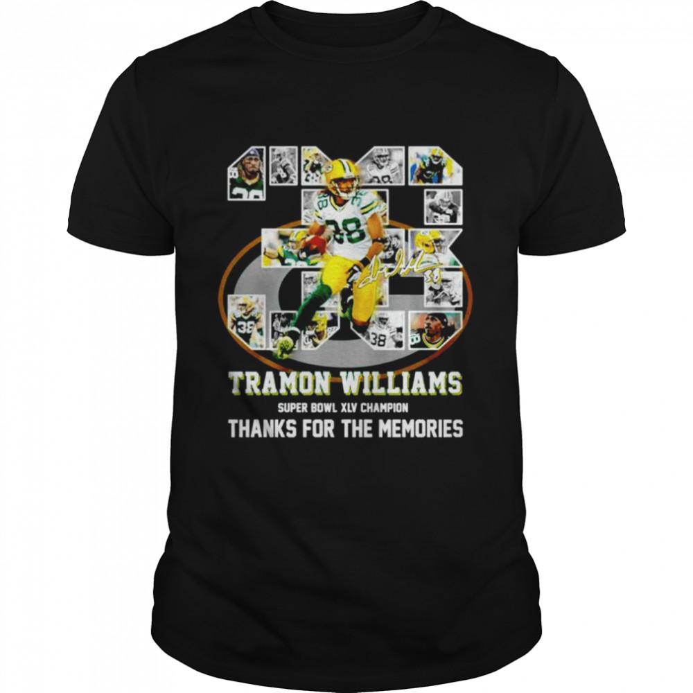 38 Tramon Williams super bowl XLV champion thanks for the memories shirt Classic Men's T-shirt