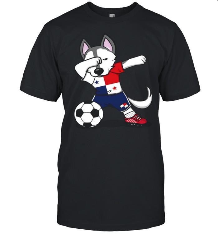 Dabbing Husky Dog Panama Football Panamanian Flag Soccer shirt Classic Men's T-shirt