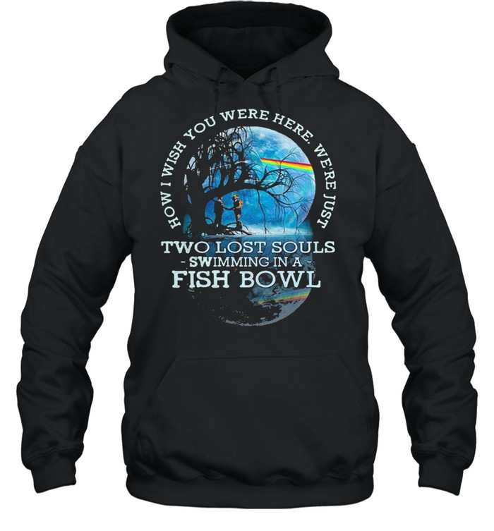 how i wish you were here lyrics pink floyd two lost souls fish bowl shirt unisex hoodie