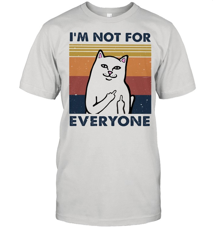 I Am Not For Everyone Cat Vintage  Classic Men's T-shirt