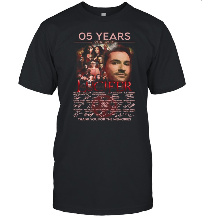 Lucifer 05 Years 2016 2021 Signatures Thank You For The Memories T-shirt Classic Men's T-shirt