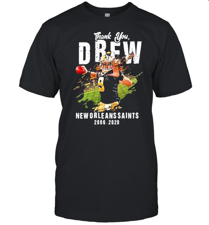 Thank You Drew New Orleans Saints 2006 2020  Classic Men's T-shirt
