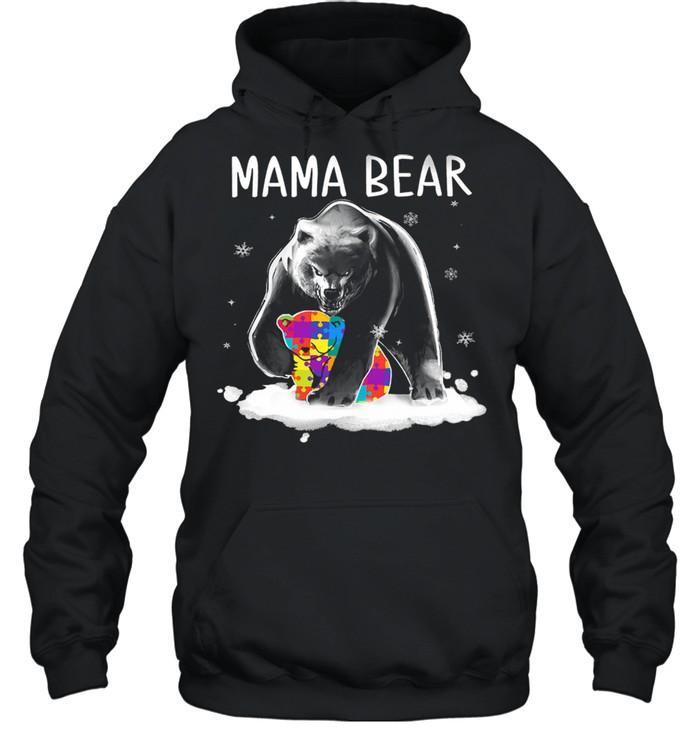 autism mama bear shirt unisex hoodie