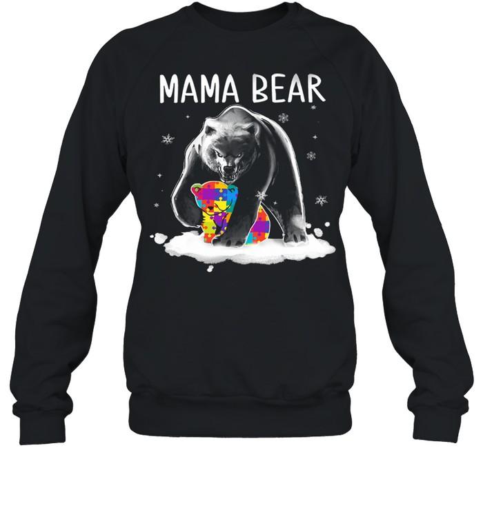 autism mama bear shirt unisex sweatshirt