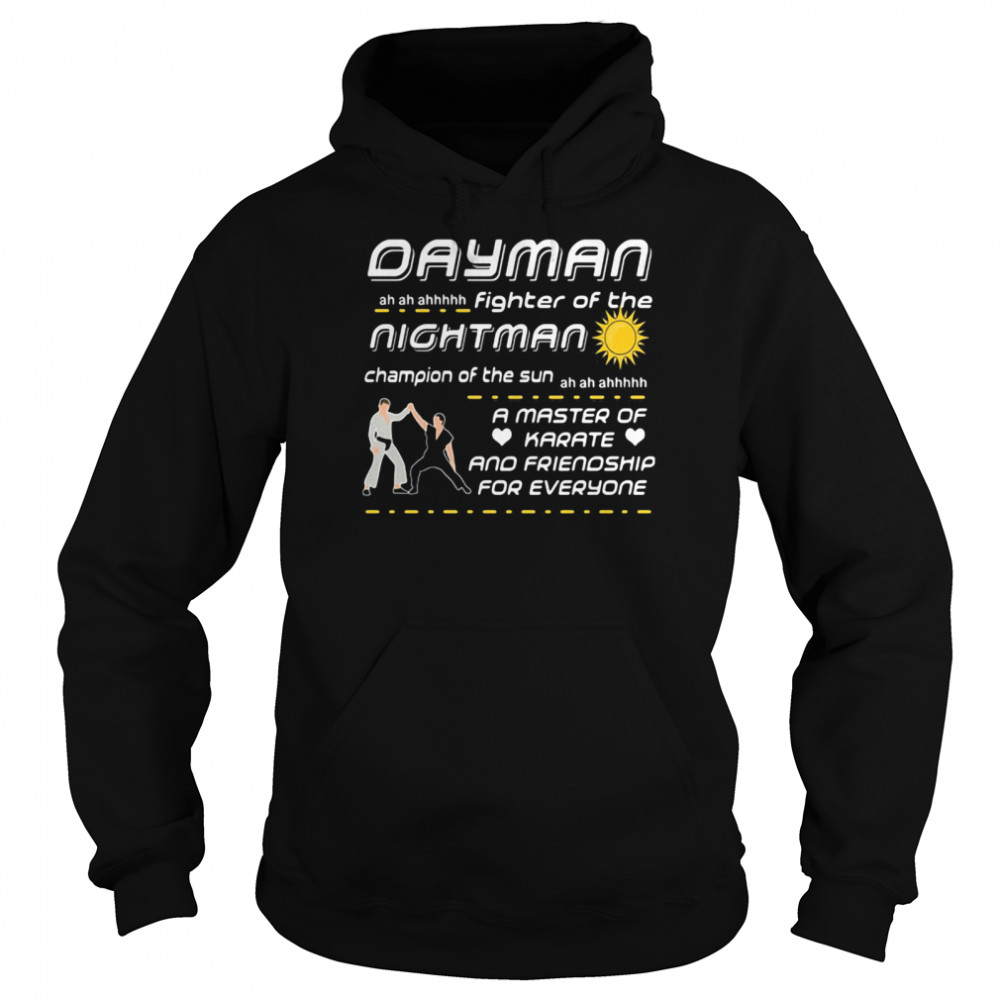 dayman iasip fighter of the nightman  unisex hoodie