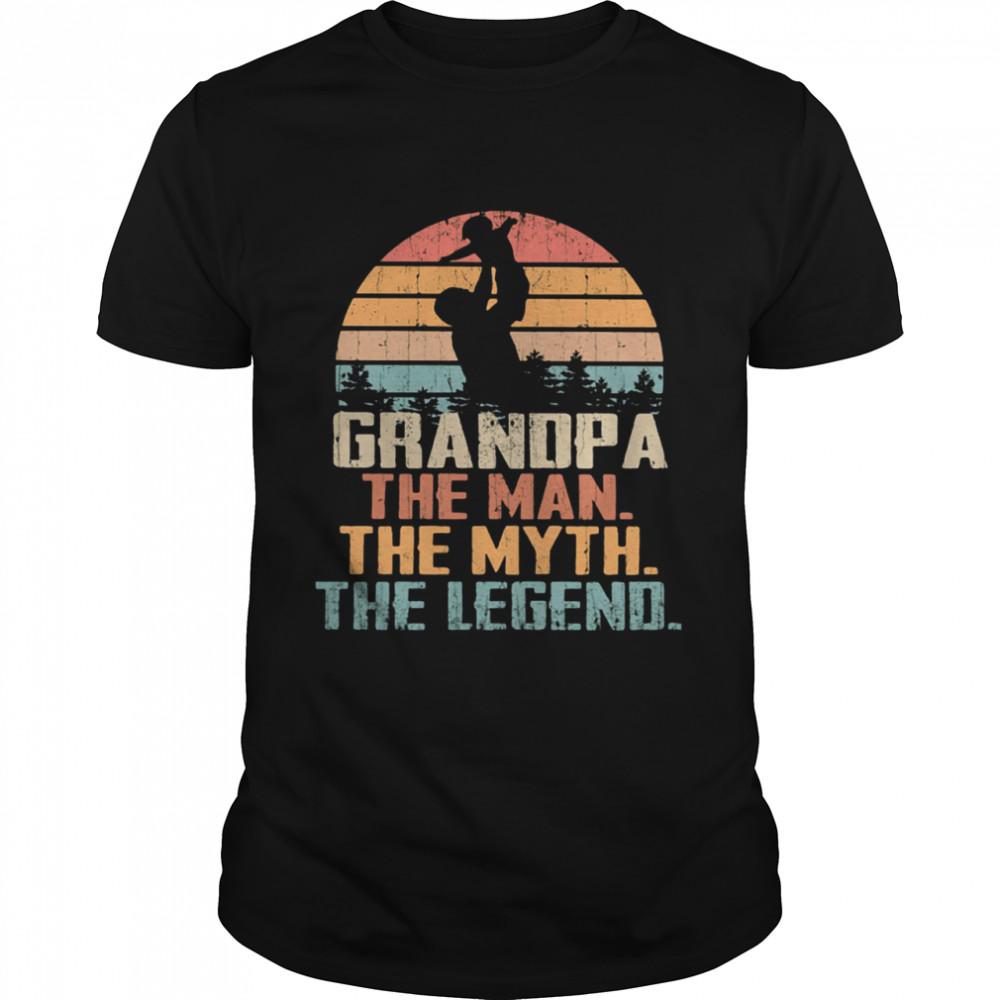 Grandpa The Man The Myth The Legend Vintage  Classic Men's T-shirt