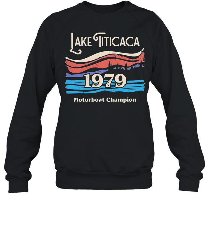 lake titicaca 1979 motorboat champion shirt unisex sweatshirt
