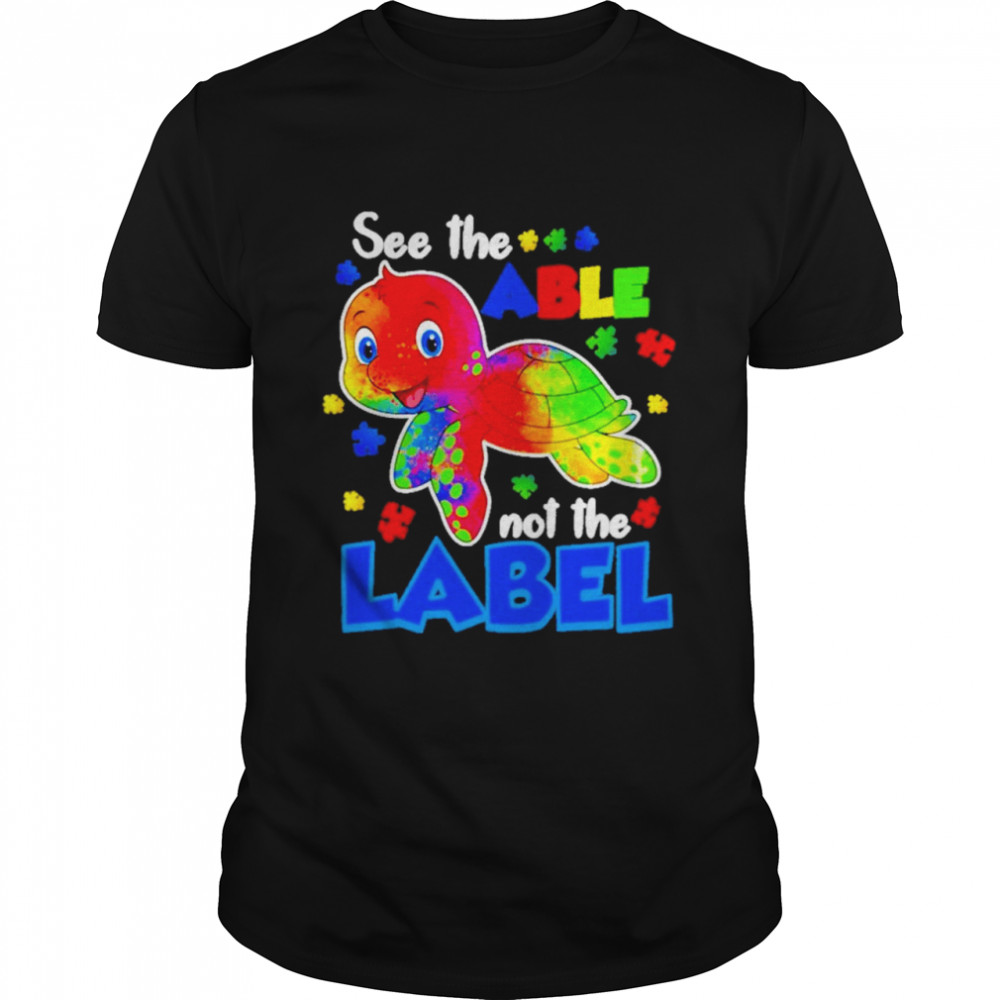 Turtle See The Able Not Label LGBT  Classic Men's T-shirt