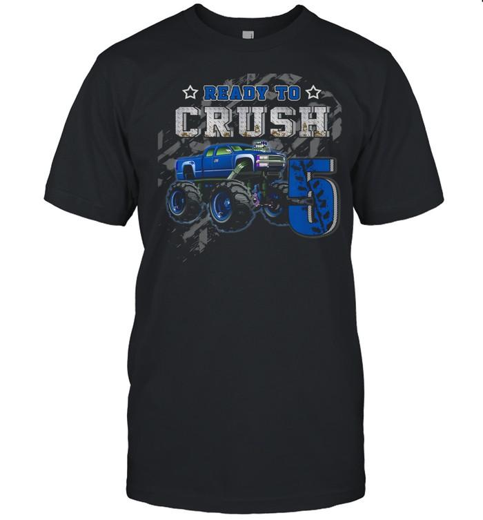 Kids Crazy Monster Truck Boys 5th Happy Birthday shirt Classic Men's T-shirt