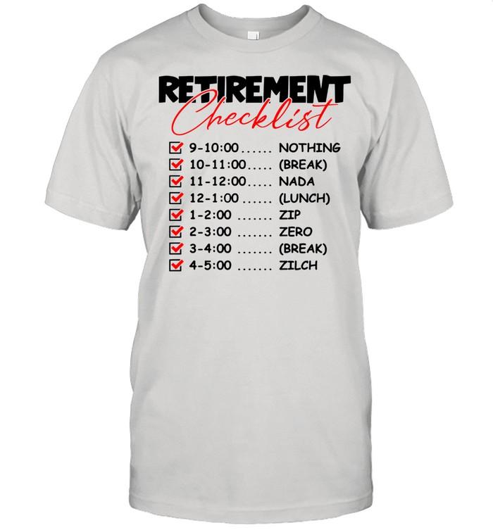 Retirement CheckList Great Retired shirt Classic Men's T-shirt