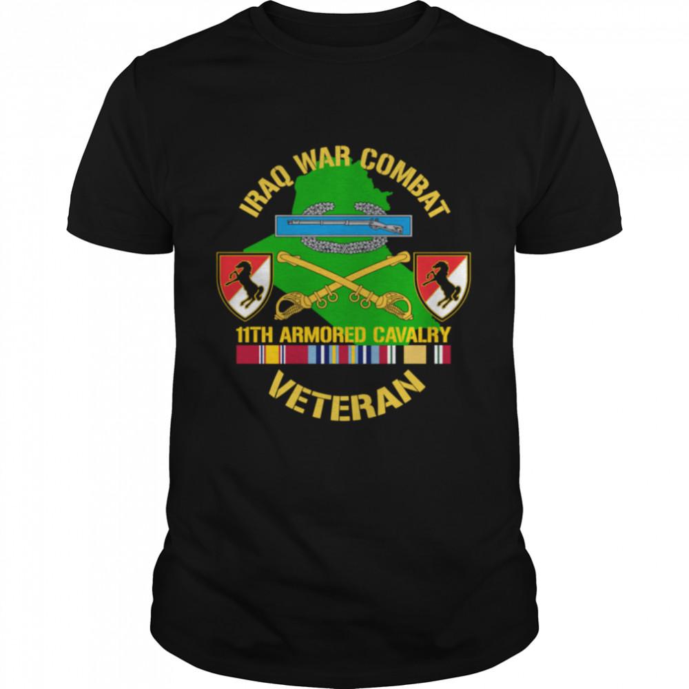 11th Armored Cavalry Regiment Iraq War Combat Veteran  Classic Men's T-shirt