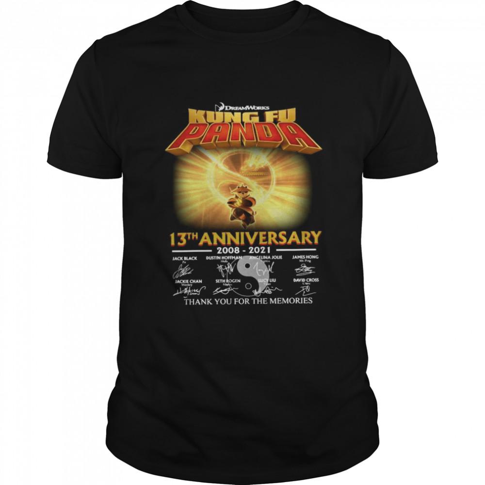 Dreamworks kung Fu Panda 13th anniversary thank you for the memories signatures shirt Classic Men's T-shirt