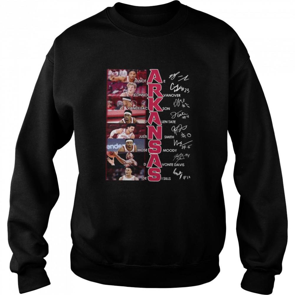 jdinot connor vance jackson arkansa signature  unisex sweatshirt