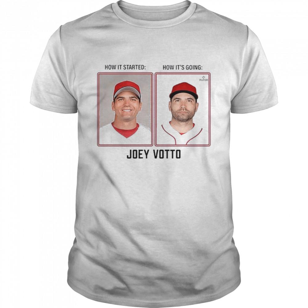 Joey Votto Then & Now Mlbpa  Classic Men's T-shirt