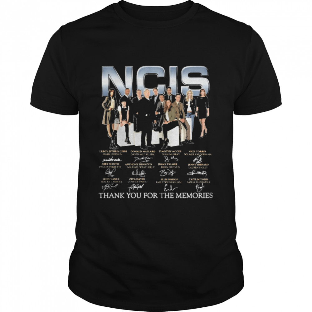 Ncis Movie 2021 signatures thank you for the memories shirt Classic Men's T-shirt