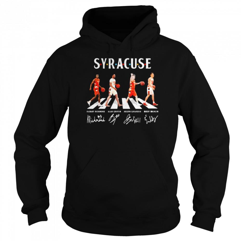 the abbey road syracuse signature  unisex hoodie