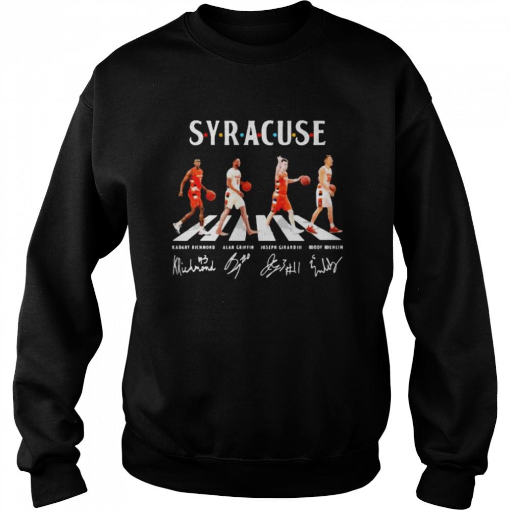 the abbey road syracuse signature  unisex sweatshirt