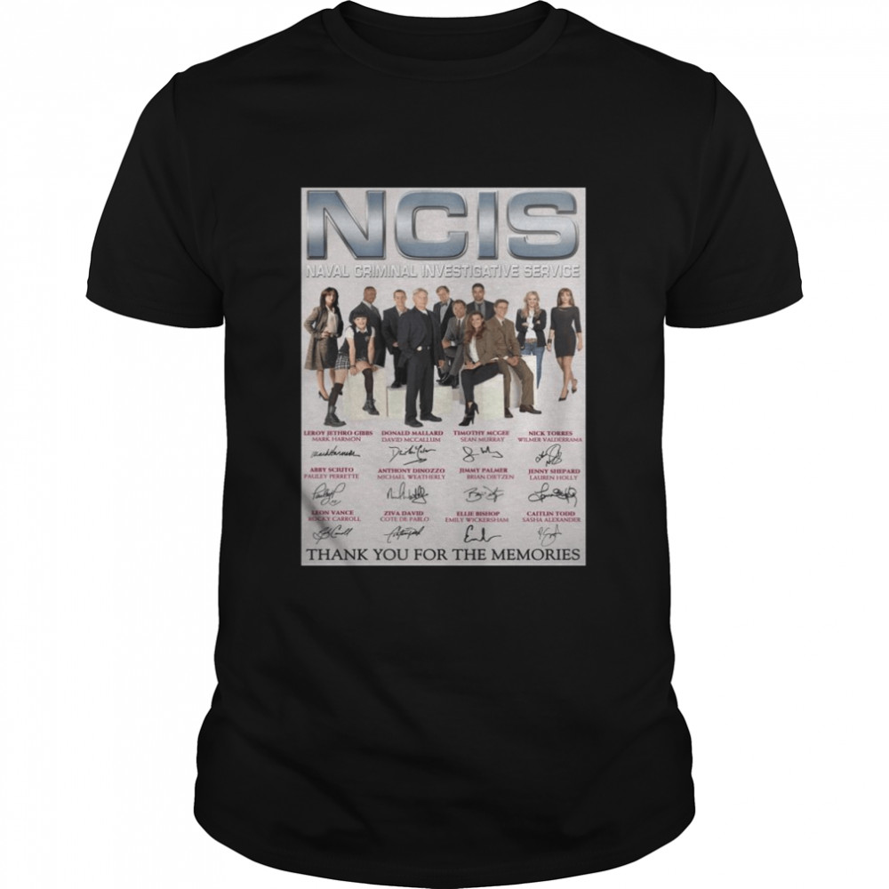 The NCIS Naval Criminal Investigative Service Poster Signature Thank You For The Memories shirt Classic Men's T-shirt